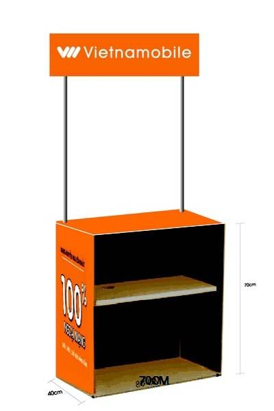 mini booth, sampling booth đơn giản