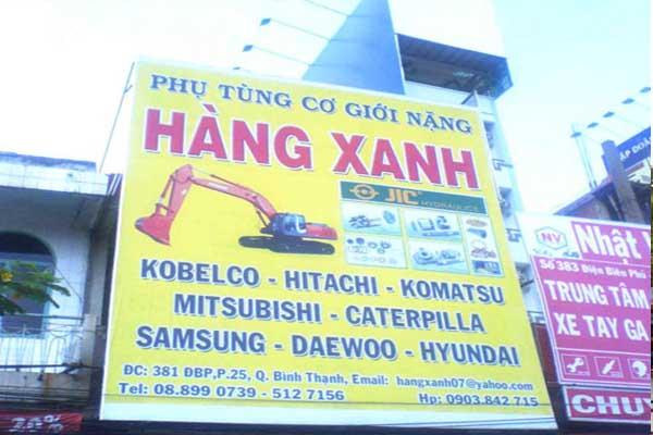 bạt hiflex làm bảng hiệu tại Hóc Môn