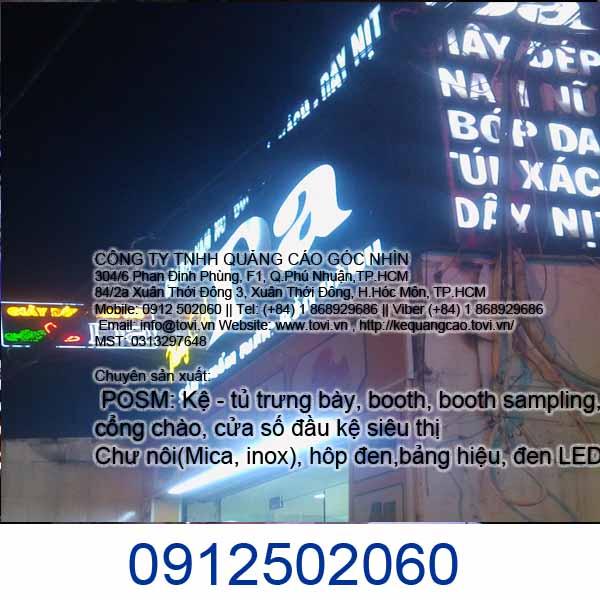 Làm bảng quảng cáo LED ở Hóc Môn