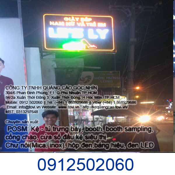 bảng hiệu hộp đèn LED giá rẻ tại huyện Hóc Môn