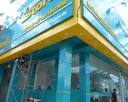 Ốp Alu mặt tiền Shop tại quận 12