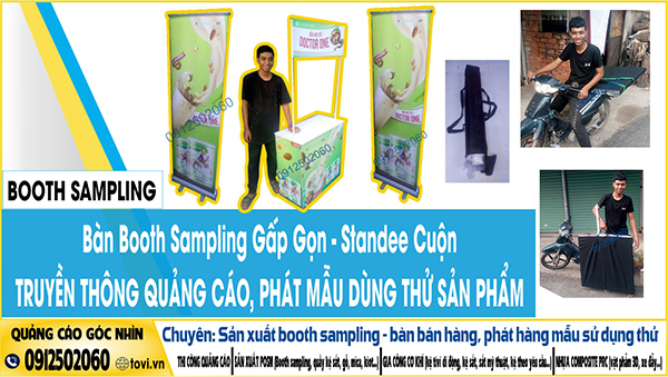 booth sampling chạy activation