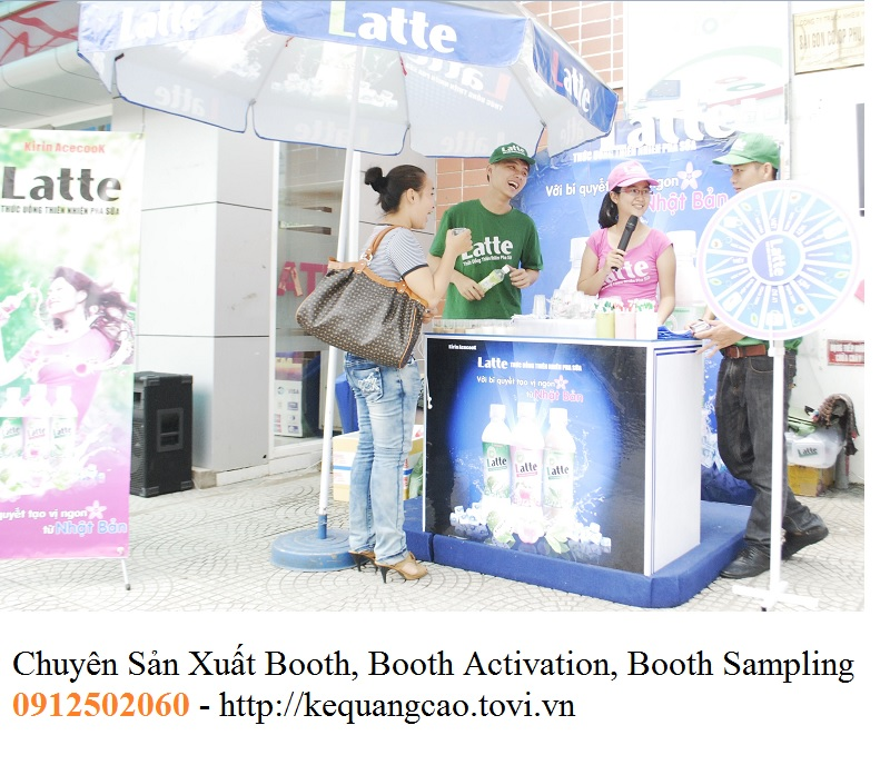 activation booth sampling